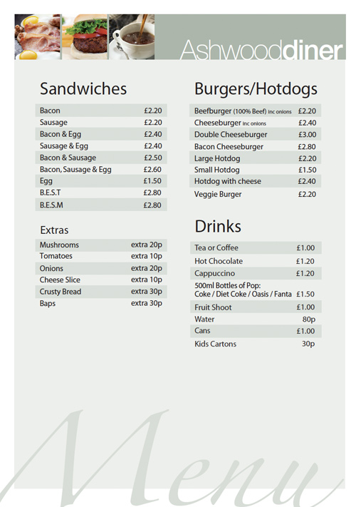ashwood catering menu
